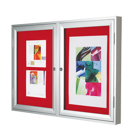 Pg 13 Varicase Double Door Wall Mounted - Silver & Red