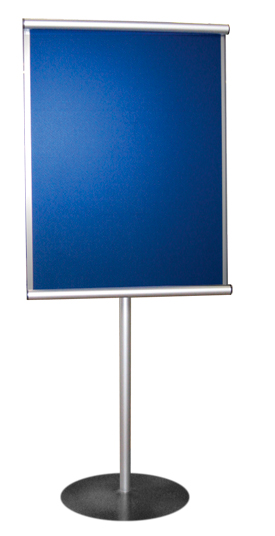 Pg 18 MiniSCROLL Stand Mounted Silver & Blue