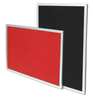 Pg 29 FLAT Frame Red & Black groove