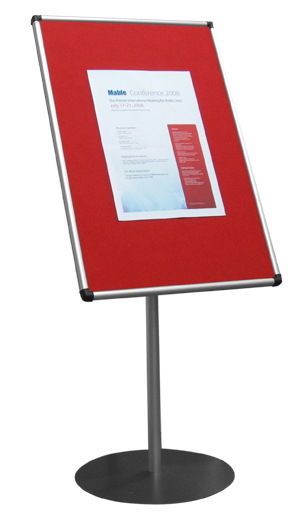 Pg 30 SCRIBE Stand Mounted Silver & Red pin